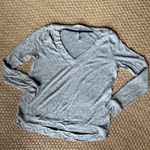 Wallflower Heather Gray V-Neck Sweater